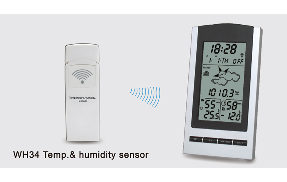 WH1175  Wireless weather station with outdoor sensor