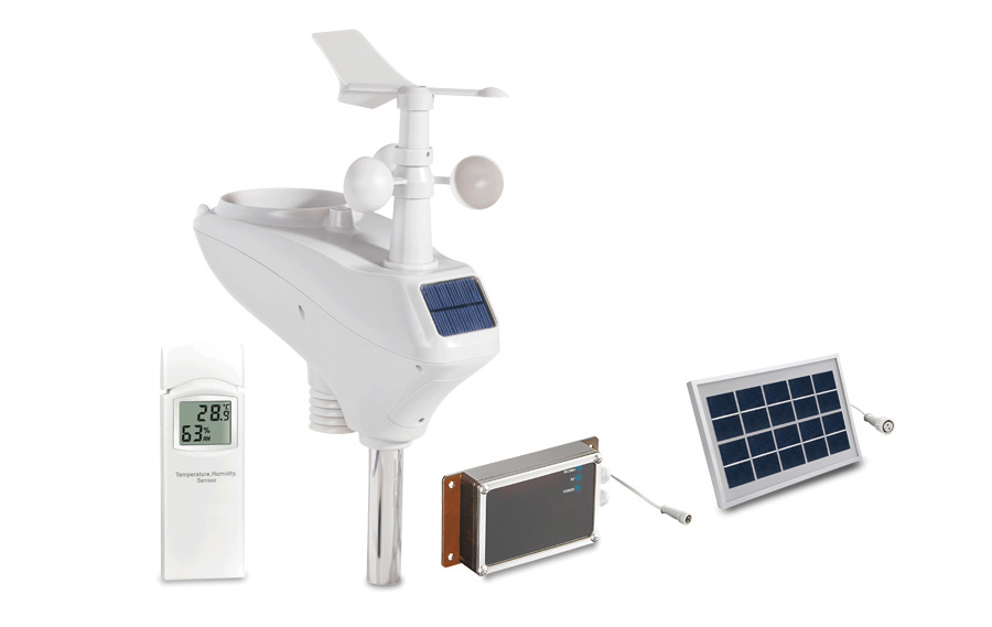 WH6007 Solar power weather station GPRS SMS remote data logger
