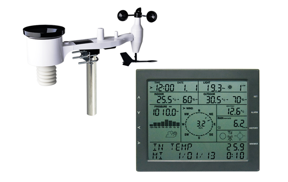 WT2310 Professional weather center with solar transmitter