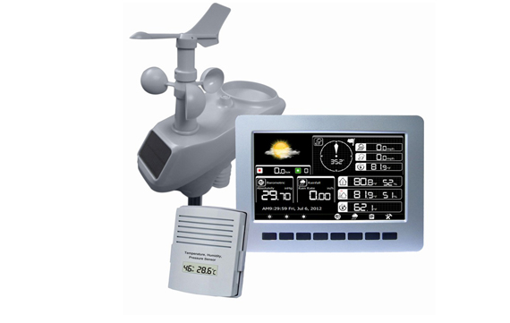 HP1003 Professional Wireless Weather Station with TFT Color Display