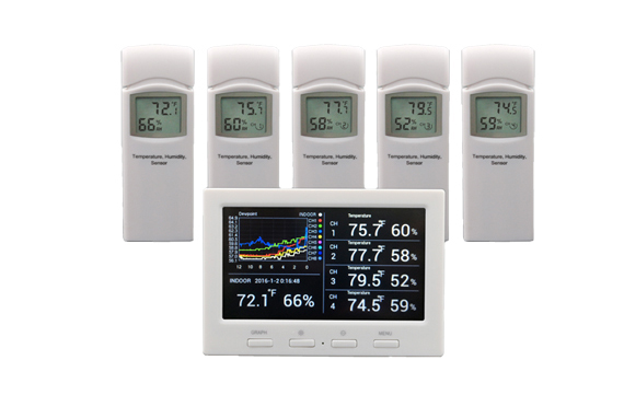 HP3000 Wireless 8 channel color screen weather station