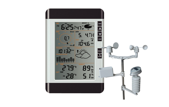 WA2080  Solar powered weather station with PC interface,with solar panel