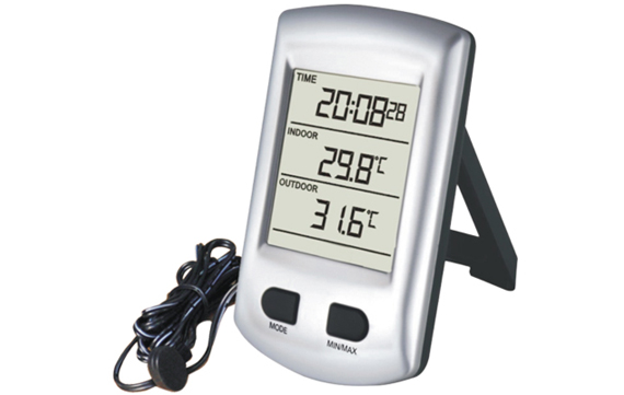 WH0320 In/Outdoor Thermometer with Wire