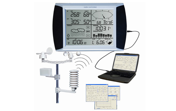 WH1080  Professional touch screen Weather Center with PC interface