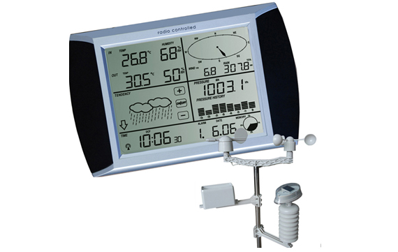 WS1080 Solar powered touch panel Weather Center with PC interface