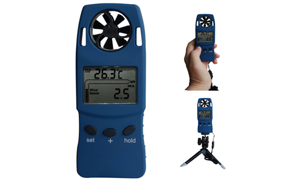 WS4003 Digital Handheld Thermo-Anemometer Vane and altimeter w/ Dew point Windchill LED Backlight